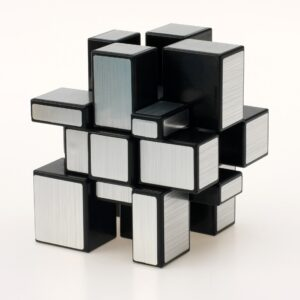 yuxin mirror cube negro plata